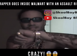 Rapper Goes Inside Walmart With a Assault Rifle | @blissmusic4u