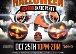 The Halloween Horror Skate Party @fleetdjs @iskateatkates @cdjlebron