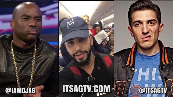 Charlamange & Andrew Schulz on YouTuber Adam Saleh Getting Kicked Off Delta Flight